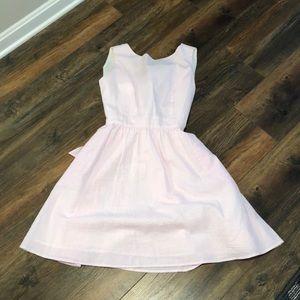 Lauren James pink and white seersucker dress
